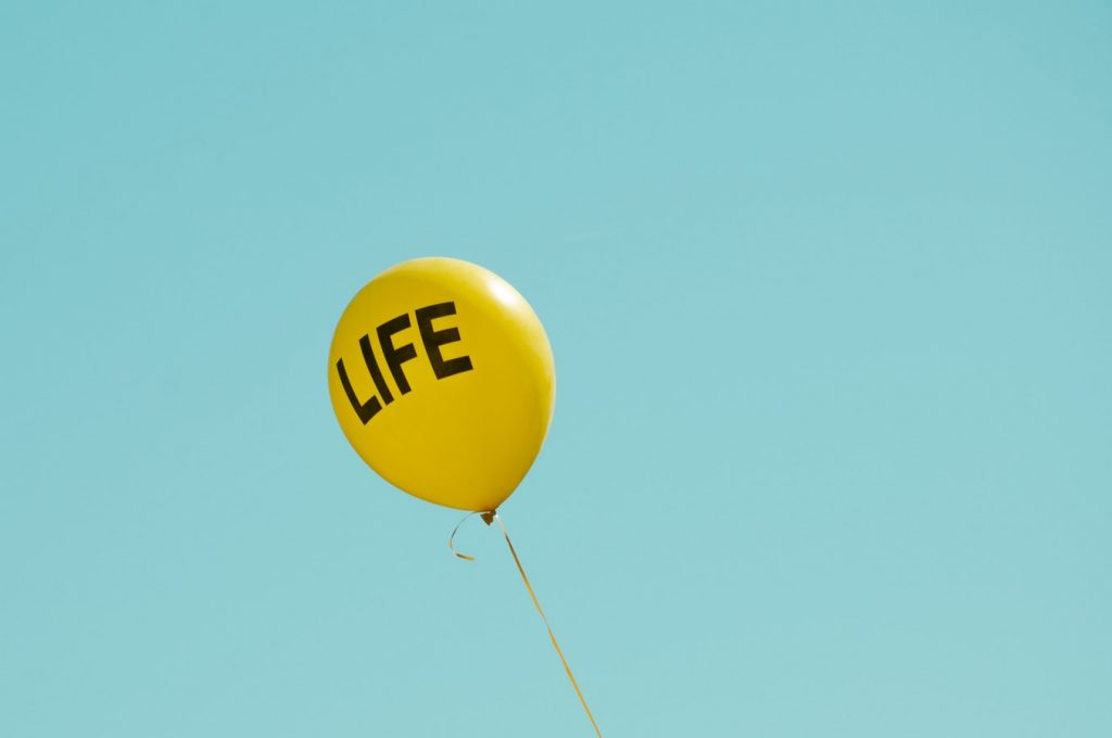 life balloon flying through the air